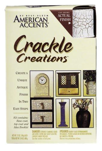 Rust Oleum Rustoleum American Accents Crackle Creations Kit Crackle Paint Venitian White