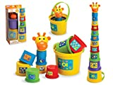 Gerry The Giraffe Baby Toddler Stacking Nesting Sorting Cups Blocks Toy Activity Fun Time