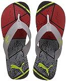 Puma Men's Splash IDP Quarry-Black-High Risk Red Flip Flops Thong Sandals - 6 UK/India (39 EU) (36637901)