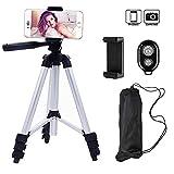 XINER 42 Zoll Kamera Handy Stativ mit Halterung und Bluetooth Fernbedienung für iphone Samsung Universal Smartphone und Kamera(weiß)