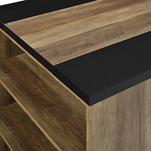 [en.casa] Schreibtisch mit 3 Ablagefächern - MDF, furniert - 180x78x77cm - Holzfarben/Schwarz - Arbeitstisch Computertisch - 5