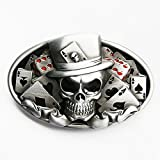 Skull joker Biker Belt buckle