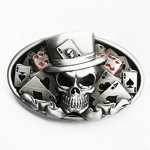 Preisvergleich Produktbild Universal Gürtelschnalle, Motiv Totenkopf / Joker