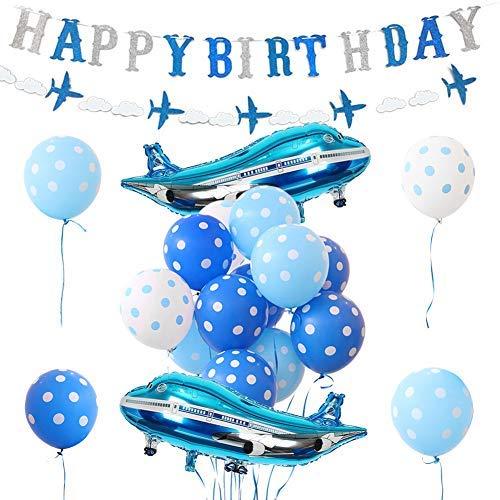 dekoration, Flugzeugballons, Geburtstagsbanner für Jungen Geburtstag Party Supplies ()