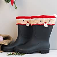 Father Christmas Boot Cuffs - Welly Warmer - Wellington - Wellies - Xmas - Stocking Filler