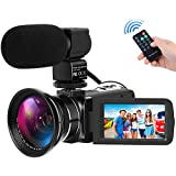 Camera Camcorders Full HD 1080P 30FPS 24MP Video Camcorder 16X Digital Zoom IR Night Vision Video Camera With Wide Angle Lens And External Microphone