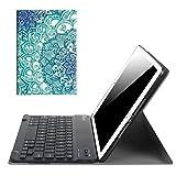Fintie iPad 9.7 Zoll 2018 2017 / iPad Air 2 / iPad Air Bluetooth Tastatur Hülle Keyboard Case - Ultradünn leicht SlimShell Ständer Schutzhülle mit magnetisch abnehmbarer drahtloser deutscher Bluetooth Tastatur für Apple iPad 9,7'' 2018 / 2017, iPad Air 1 / 2, smaragdblau