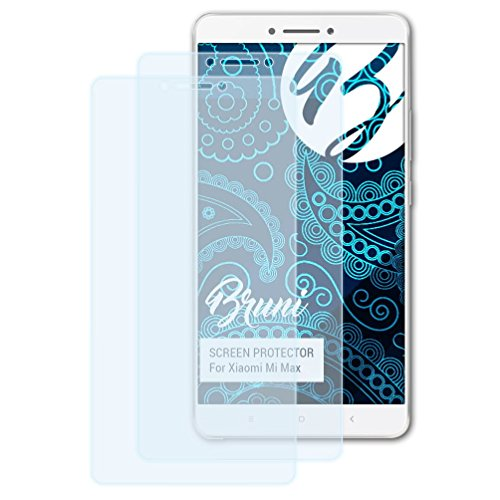 Bruni Schutzfolie für Xiaomi Mi Max Folie, glasklare Bildschirmschutzfolie (2X)
