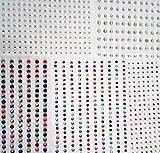 1150 strass autoadesivi multicolore di 2mm, 3mm e 4mm