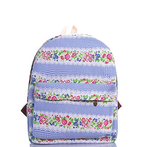 Borsa da zaino da viaggio Daypack del computer portatile del sacchetto dello zaino di stampa floreale della farfalla variopinta delle ragazze Fiori Rosa Rosa Plaid