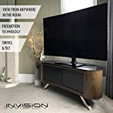 """Invision® RS400 ScreenStation Table Top TV Pedestal Stand with Tilt and Swivel using FreeMotion Technology – For 32 55"""" TV Screens – Ultra-Stable 8mm Tempered Glass Base with Anti-Slip Feet [RS400] Bild 6"""