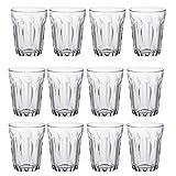 Duralex Provence Wasser / Saft Traditionelle Tumbler Gläser - 130ml - Packung mit 12