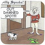 3dRose CST 23200_ 1Out Damned Spot Humor Shakespeare Cartoon Weiche Untersetzer, 4Stück