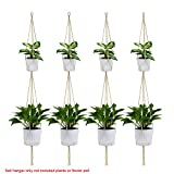 Wituse Makramee Pflanzenhänger zum Aufhängen von Topf, Korb, Aufhänger, Pflanzgefäß, Seil, farbe, simple *4