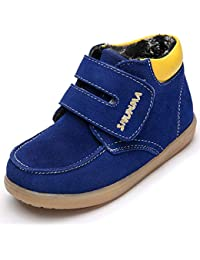Yooeen Chaussures d hiver Enfant Souples Suède Bottes de Neige Chaud  Fourrées Bottines Garçon Fille 77e7e181bd7f