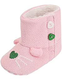 53c5b4d782dd4 ✿luoluoluo ✿ Chaussons Bébé Nouveau-nés bébé Filles Dessin animé Hiver  Chaud Premiers Chaussures