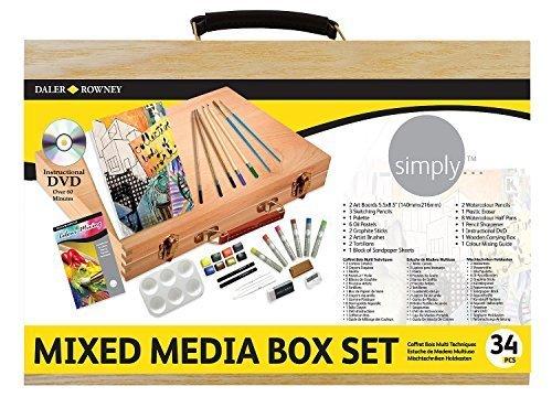 Daler Rowney Simply Mixed Media Wood Box Set by Daler Rowney