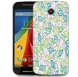 Snoogg Colorful Leaves Designer Protective Phone Back Case Cover For Motorola G 2nd Genration / Moto G 2nd Gen