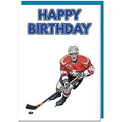 Geburtstagskarte–Eishockey Motto–Dad–Mann–Brother–Sohn–Grandad–Boyfriend