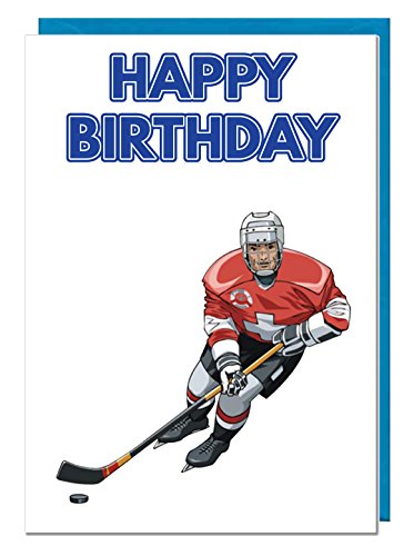 Geburtstagskarte-Eishockey Motto-Dad-Mann-Brother-Sohn-Grandad-Boyfriend
