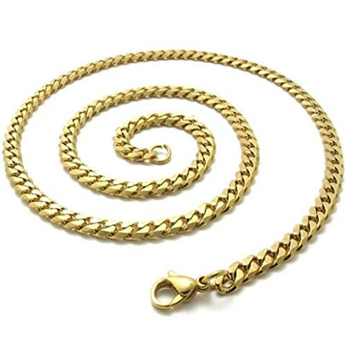 AMDXD Gioielli Collana dell'oro dell'Acciaio Inossidabile di Collegamento 14-40