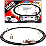Wishkey Battery Operated High Speed Bullet Train Toy Set Game With Tracks And Signals For Kids