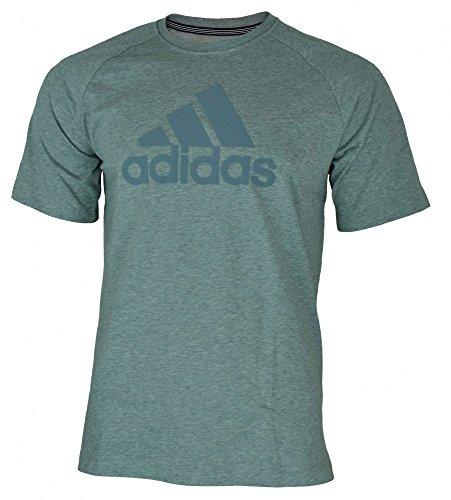 adidas Herren T-Shirt Ess Logo Grau