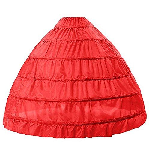 BEAUTELICATE Petticoat Reifrock Unterröcke Damen Lang Fur Brautkleid Hochzeitskleid Vintage Crinoline Underskirt. (Klasse Halloween-kostüme 8)