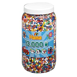 Hama - 644028 - Loisirs Créatifs - Pot 13000 Perles à Enfiler