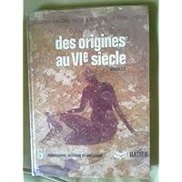 Des origines au VIe siecle apres J.C. histoire, 6e programme africain et malgache
