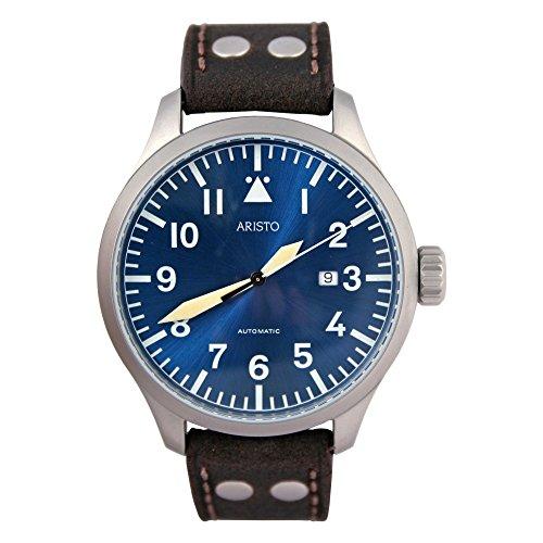 'Aristo automático para hombre reloj de pulsera diseño costura a