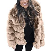 Luckycat Abrigos Mujer Invierno Rebajas Elegantes Talla Grande Piel SintéTica De Lujo Moda con Capucha Abrigo