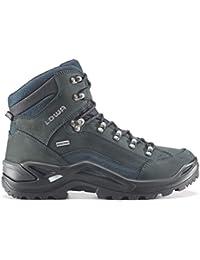 Hombre Lowa Renegade GTX MID botas de Gore-Tex estrecha/310943 9449 para hombre botas de senderismo gris Talla:44.5