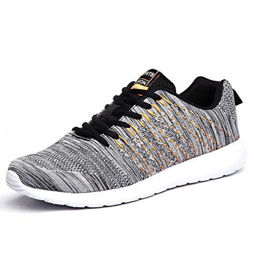 AFFINEST Donna Uomo Scarpe da Ginnastica Sneakers Respirabile Mesh Scarpe da Corsa all'aperto Sneakers(Grigio-A,42