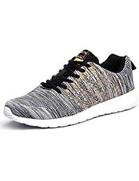 AFFINEST Hombre Mujer Zapatillas de Deporte Gimnasia Ligero Sneakers Casual Malla para verano e invierno Caminar Zapatos