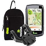 TEASI ONE Classic - Fahrrad- & Wandernavigation+USB Netzteil+ optionales Zubehör(Teasi Classic + Dualhalter, Tasche)