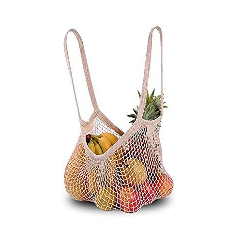 DimiDay Baumwolle wiederverwendbare Net Shopping Tote String Tasche Veranstalter für Lebensmittelgeschäft Shopping & Strand, Lagerung, Obst, Gemüse und Spielzeug