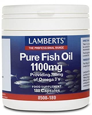 Lamberts Pure Fish Oil 1100mg QTY 180 Capsules
