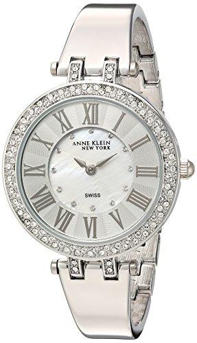 Anne Klein New York Femme de 12/2255mpsv Cristal Swarovski Accentuée Argenté Bracelet montre