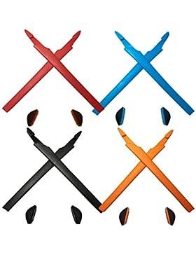 HKUCO Red/Blue/Black/Orange Replacement Silicone Leg Set For Oakley Crosslink Sunglasses Earsocks Rubber Kit
