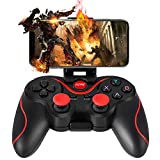Controller Wireless per PS3, WZTO Controller gioco senza fili compatibile con PC (Windows XP / 7/8 / 8.1 / 10) e Android, Vista e portata fino a 10M, Nero