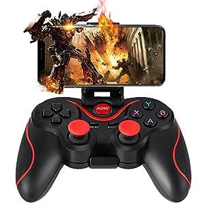 PC Controller, WZTO Wireless Controller Gamepad Kompatibel mit PC (Windows XP / 7/8 / 8.1/10) und PS3, Android, Vista und Reichweite bis zu 10M, Schwarz