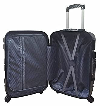 Serenecasa Cabin Size Easy Jet Ba Hard Shell Abs 4 Wheeler Spinner Trolley Case (Black) 5