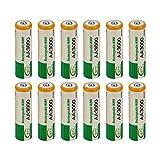 12 Piezas AA LR06 3000mAh 1.2V batería NI-MH Cell RC BTY Nueva batería de reemplazo Mini...