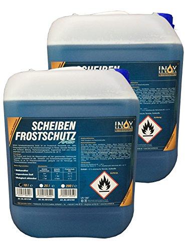 INOX® Arctic Scheibenfrostschutz Konzentrat, 2 x 10L - Frostschutzmittel Scheibenreiniger bis -35°C