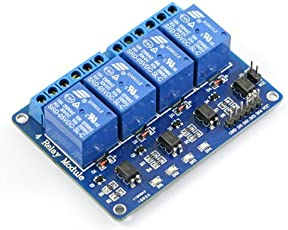 REES52 Optocoupler 4 Channel 5V Relay Module Relay Control for Arduino DSP AVR PIC ARM