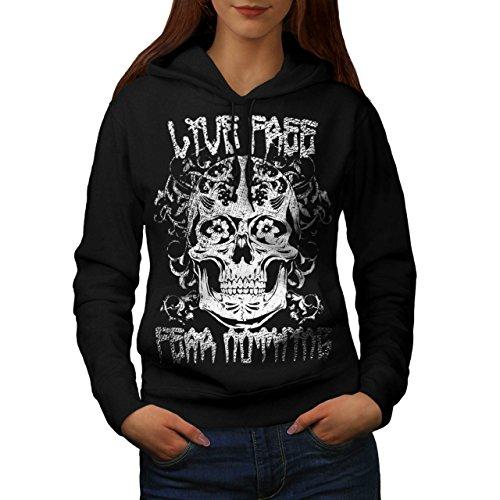live-free-fear-nothin-skull-head-women-new-black-l-hoodie-wellcoda