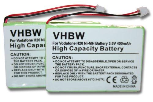 vhbw-2x-nimh-batteria-400mah-36v-per-telefono-fisso-cordless-belgacom-twist-708-sostituisce-t306-4m3