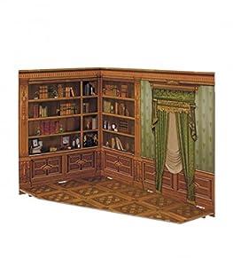 CLEVER PAPER- Puzzles 3D Biblioteca de casa de muñecas, Serie Rumboksy (142913)