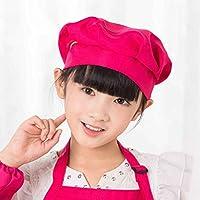 Bobury Niños Adultos Chef Cap de Hongos Pastel Chef de Trabajo Sombrero Chef de Cocina Sombrero Chef Cap